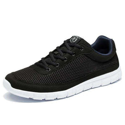 The Geess Black / 7 Men Casual Shoes Breathable Lace-Up Walking Shoes Lightweight Comfortable Walking