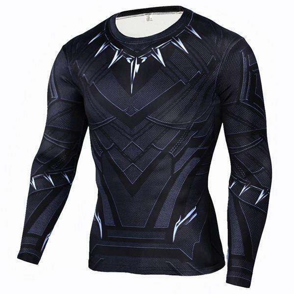 The Geess BlackPanter / Aisan S Marvel Superhero Long Sleeves Shirts