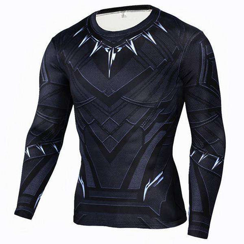 Image of The Geess BlackPanter / Aisan S Marvel Superhero Long Sleeves Shirts