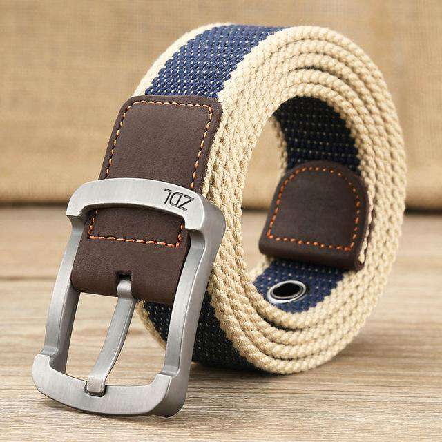 The Geess Blue stripe 1 / 110cm Men and Woman`s military belt outdoor tactical belt high quality canvas belts for jeans
