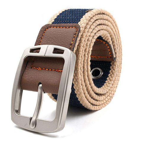 The Geess Blue stripe 2 / 110cm Men and Woman`s military belt outdoor tactical belt high quality canvas belts for jeans