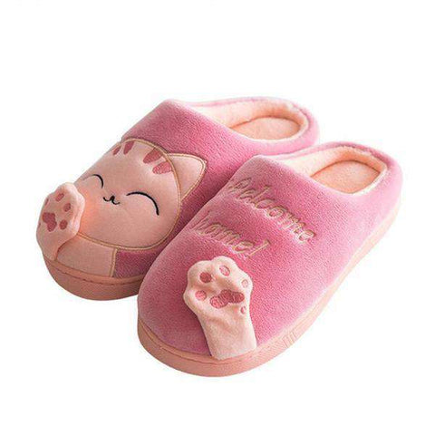 The Geess Cute Cat lover warm and cozy slippers
