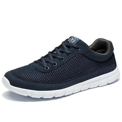 The Geess Dark Blue / 7 Men Casual Shoes Breathable Lace-Up Walking Shoes Lightweight Comfortable Walking