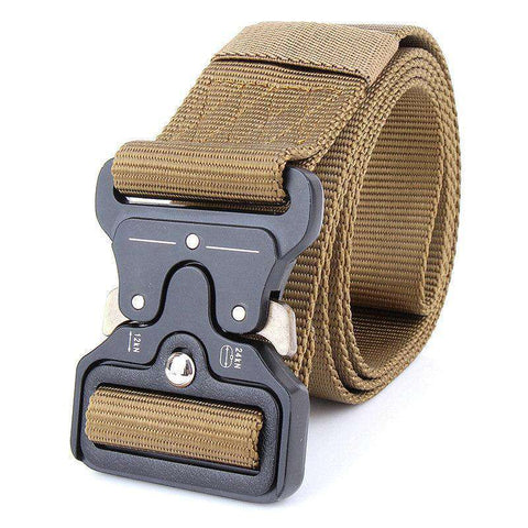 The Geess Dark Khaki / 125cm Mens Tactical Belt Military Nylon Belt Outdoor