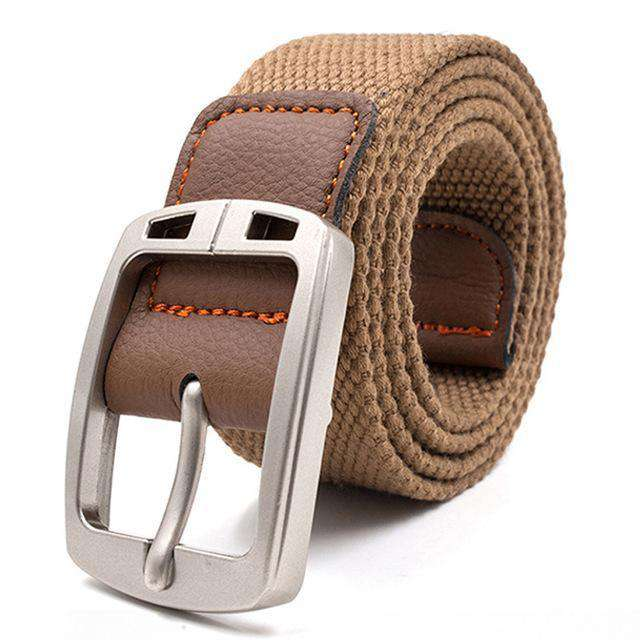 The Geess Deep khaki / 110cm Men and Woman`s military belt outdoor tactical belt high quality canvas belts for jeans