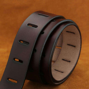 Military Style Genuine Leather Belt for Men