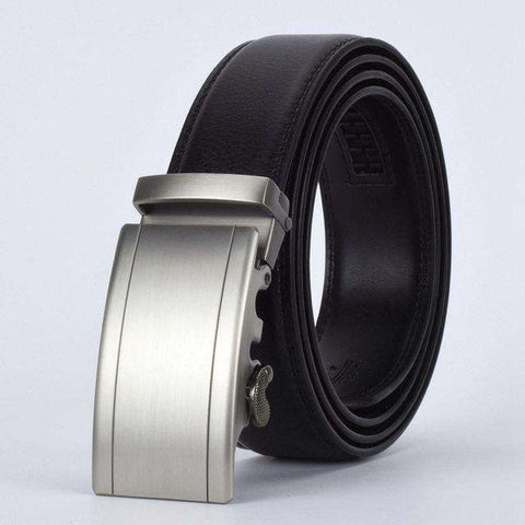 The Geess F / 110cm Men`s Fashion Designers Automatic Buckle Leather luxury Belts