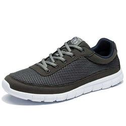 The Geess Gray / 7 Men Casual Shoes Breathable Lace-Up Walking Shoes Lightweight Comfortable Walking