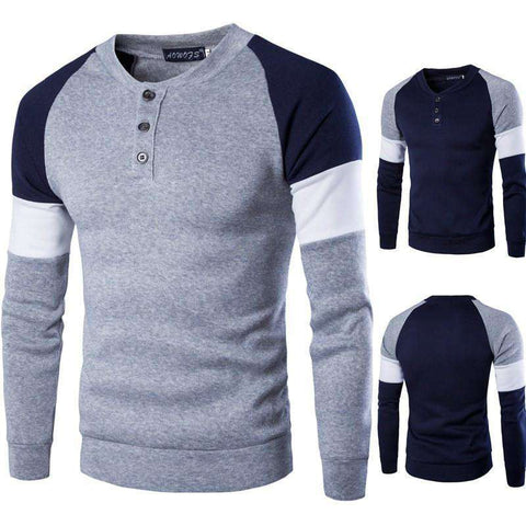 Image of The Geess gray / M Casual O Neck Long Sleeve Fashion Sweatshirts