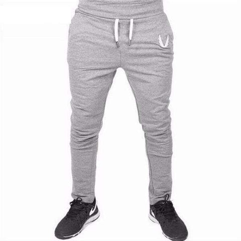 Image of The Geess Gray / M Men`s Jogger Pants Men Fitness Bodybuilding