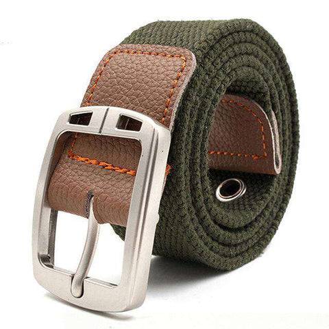 The Geess Green / 110cm Men and Woman`s military belt outdoor tactical belt high quality canvas belts for jeans