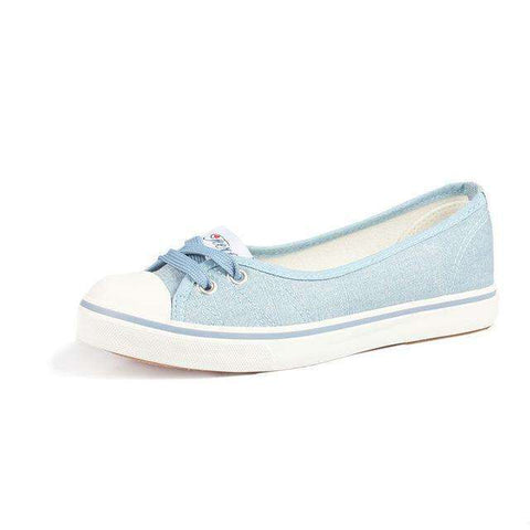 The Geess Light Blue / 4 Women Shoes Ballet Flats Loafers Casual Breathable Women Flats Slip On Fashion