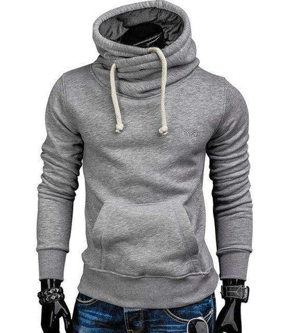 Image of The Geess Light gray / S Men`s Spring Fashion Hoodie Sweatshirt