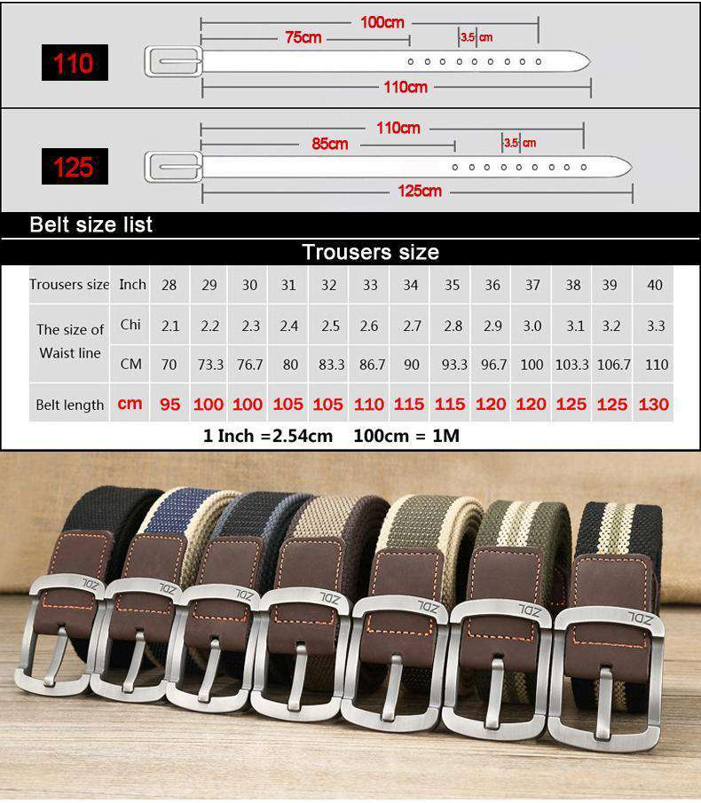 The Geess Men and Woman`s military belt outdoor tactical belt high quality canvas belts for jeans