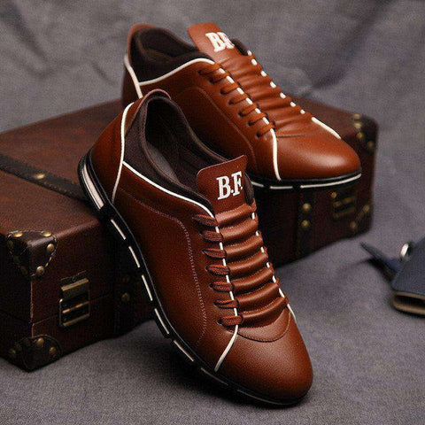 Image of The Geess Men`s Casual Shoes Fashion Leather Shoes