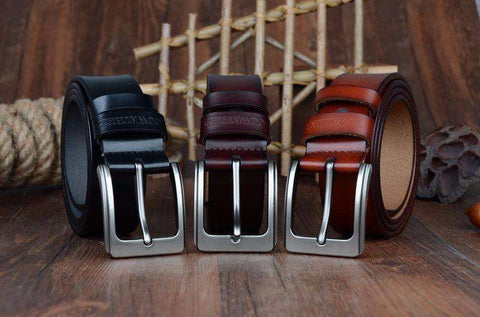 The Geess Men`s cowhide genuine leather belts