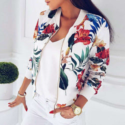 The Geess New ladies bomber jacket floral print