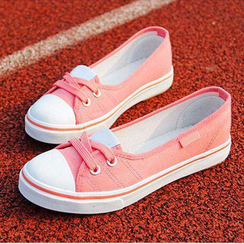 Image of The Geess Pink / 4 Women Shoes Ballet Flats Loafers Casual Breathable Women Flats Slip On Fashion