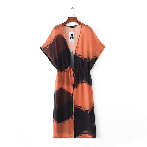 Image of The Geess S / United States Beach Kimono | Printed Kimono