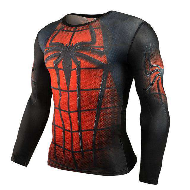 The Geess SpiderRed / Aisan S Marvel Superhero Long Sleeves Shirts