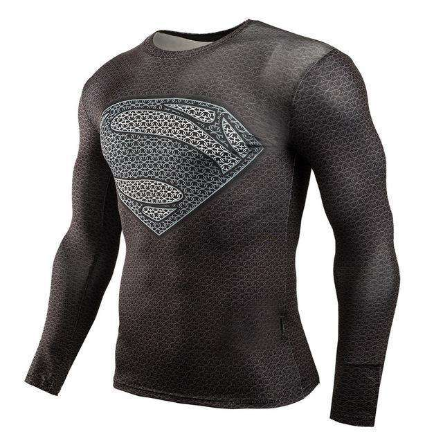 The Geess SuperGrey / Aisan S Marvel Superhero Long Sleeves Shirts