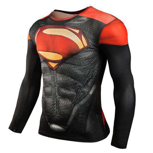The Geess SuperRed / Aisan XXL Marvel Superhero Long Sleeves Shirts