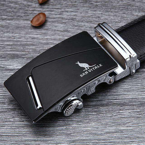 The Geess SV 1429S / 110cm Famous Brand Belt Men 100% Cow skin Genuine Luxury Leather Metal Alloy