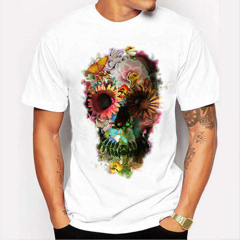 The Geess White / M Men punk skull T-shirt