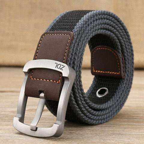 The Geess Wide black stripe 1 / 110cm Men and Woman`s military belt outdoor tactical belt high quality canvas belts for jeans