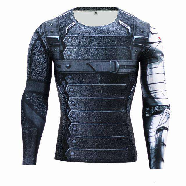 The Geess WinterSoldier / Aisan S Marvel Superhero Long Sleeves Shirts