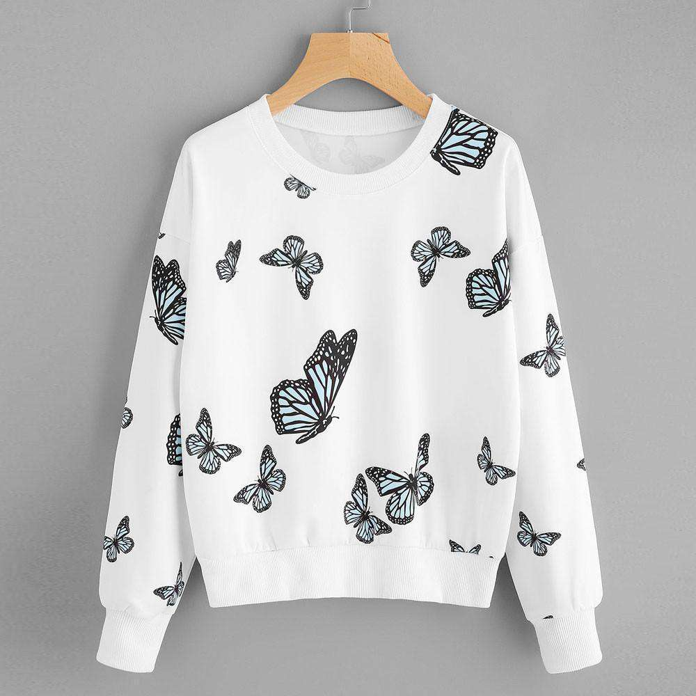 85342b35996 ... Printing Long Sleeve Casual Sweatshirt Pullover Tops Blouse. Hover to  zoom
