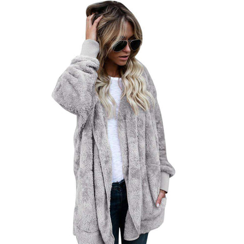 Image of The Geess Women`s Hooded Long Coat Jacket