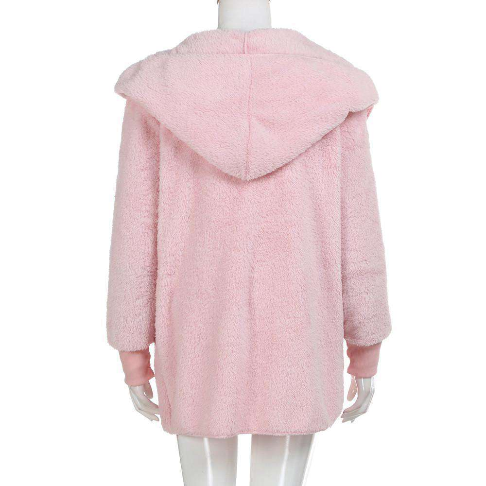 The Geess Women`s Hooded Long Coat Jacket