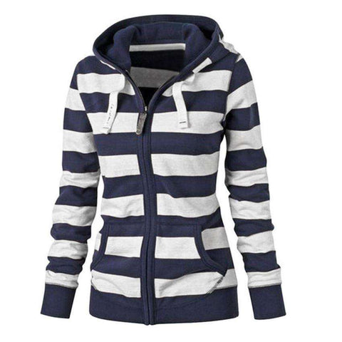 The Geess Women`s Hooded Zipper Coat