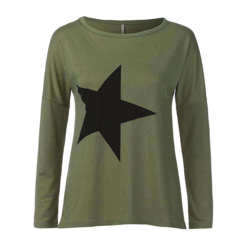 The Geess Women`s O-Neck Sweatshirt Start Print