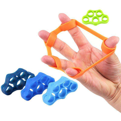 Image of thegeess 6pcs Finger resistance bands Hand Gripper Forearm Wrist Training