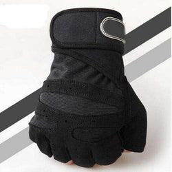 thegeess Black / L M-XL Gym Gloves Heavyweight Sports Exercise Weight Lifting Gloves