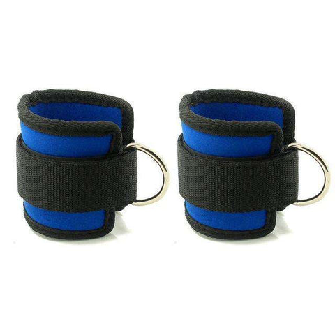 Image of thegeess Blue Body Building Resistance Band D-ring Ankle Straps Home Workout Exercise Ankle Cuffs