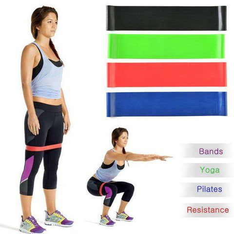 Image of thegeess Exercise Resistance Loop Bands Fitness Stretch-Elastic Power Weight Bands