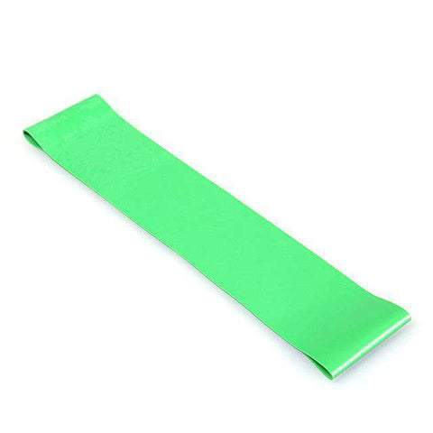 Image of thegeess Green Exercise Resistance Loop Bands Fitness Stretch-Elastic Power Weight Bands