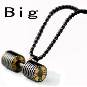 Dumbbell Pendant Fitness Necklace Bodybuilding Gym