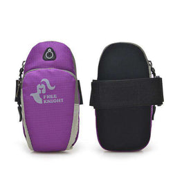 thegeess Purple Color Sport Armband Case Zippered Fitness Running Arm