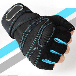 thegeess Sky Blue / L M-XL Gym Gloves Heavyweight Sports Exercise Weight Lifting Gloves