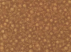 Quilting Fabric Home to Roost-Brown by by Terri Degenkolb of Whimsicals
