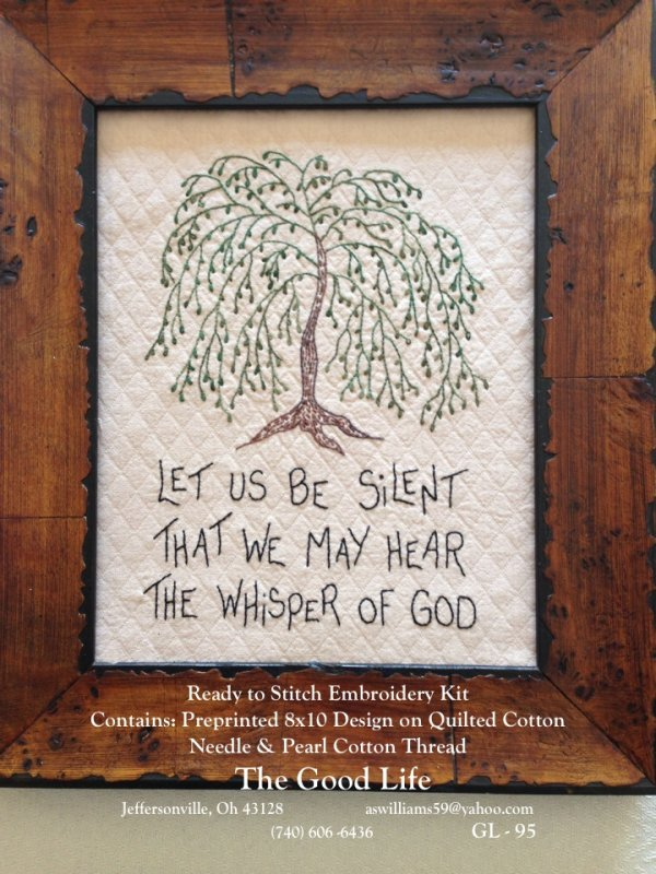 Let Us Be Silent Embroidery Kit by The Good Life