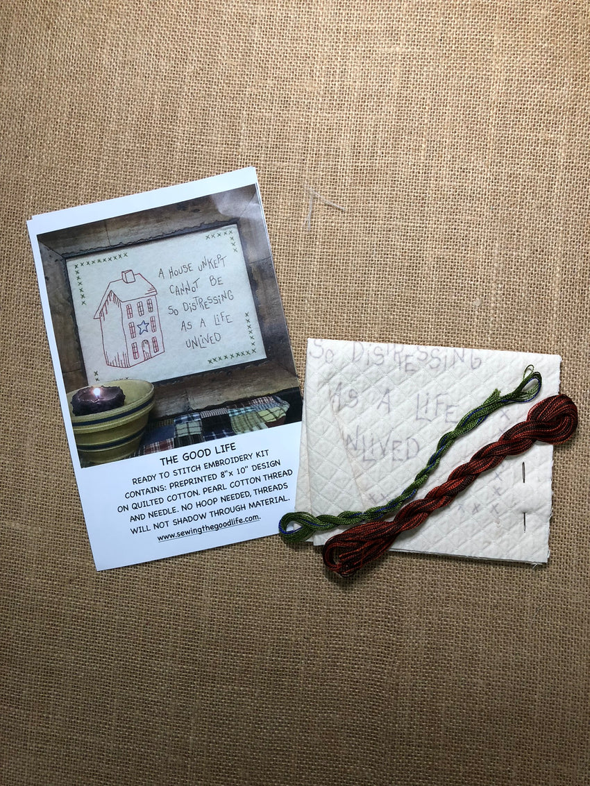 A House Unkept Embroidery Kit by The Good Life