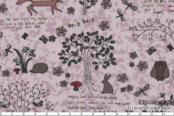 Quilting Fabric Lynette Anderson Wildflower Wood by Lecien # 35030-110