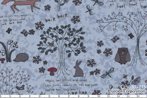 Quilting Fabric Lynette Anderson Wildflower Wood by Lecien #35030-71
