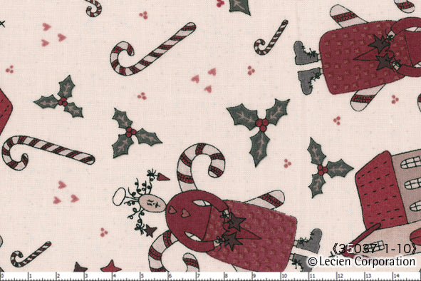 Quilting Fabric Lynette Anderson Candy Cane Angels 35037-10