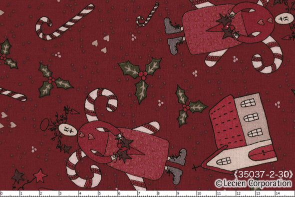 Quilting Fabric Lynette Anderson Candy Cane Angels 35037-30